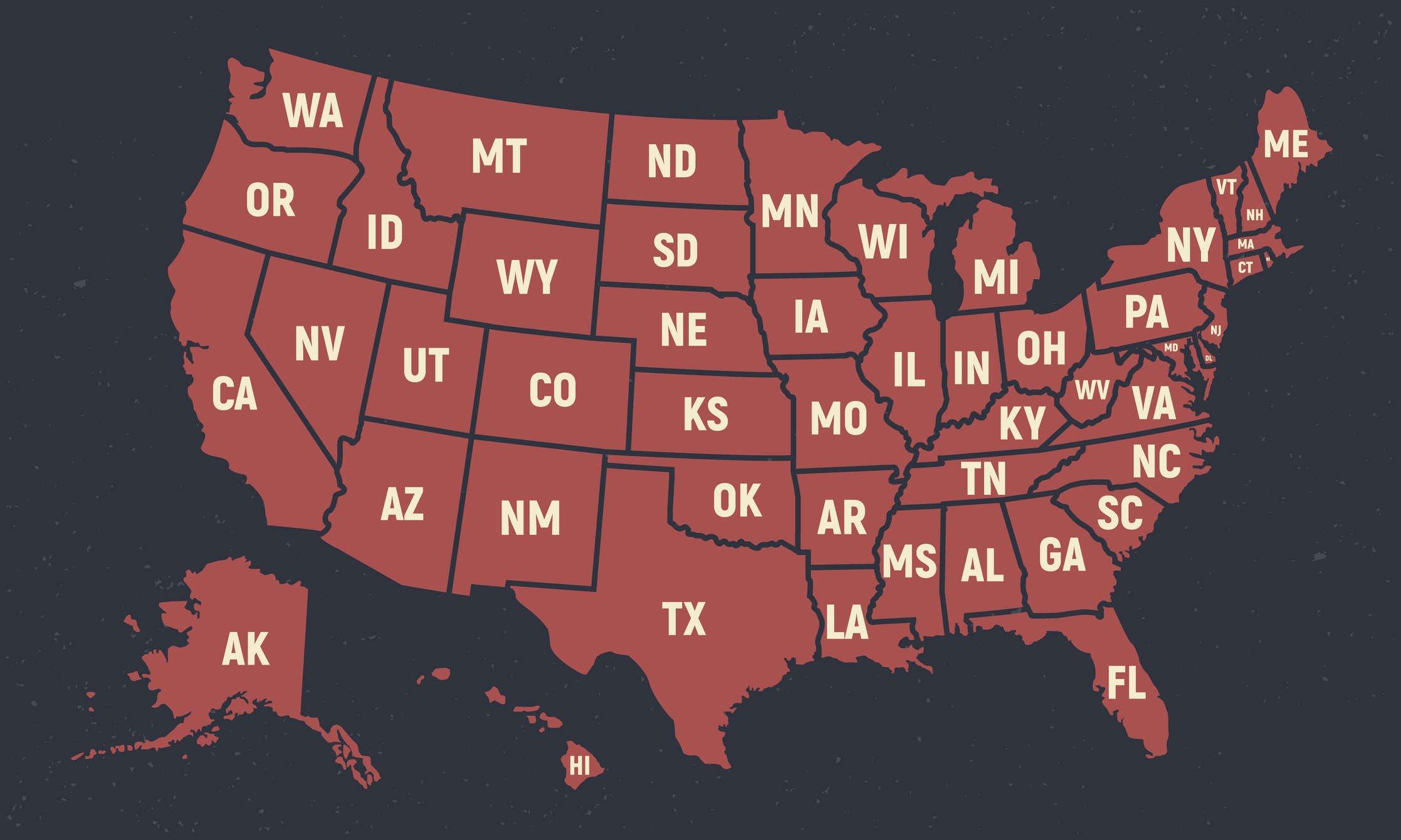 Top Inbound States of 2020